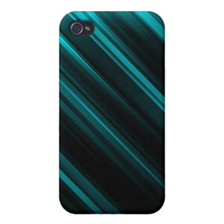 Light Blue Striped iPhone 4/4S Case