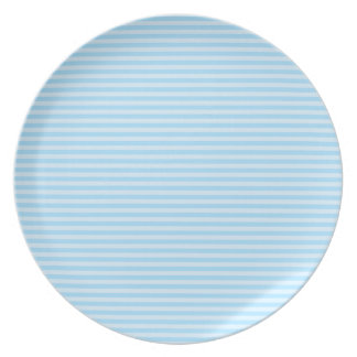 Light Blue Stripes. Plate