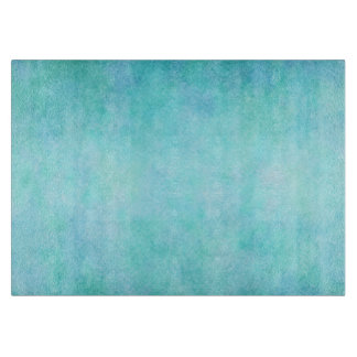 Light Blue Teal Aqua Watercolor Paper Colorful Cutting Board
