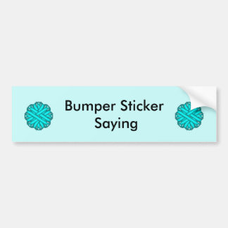 Light Blue / Teal Flower Ribbon Bumper Sticker