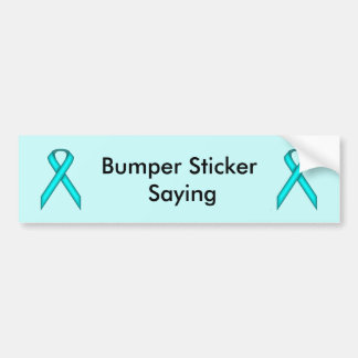 Light Blue / Teal Standard Ribbon Bumper Sticker