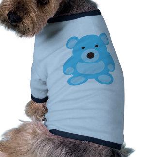 Light Blue Teddy Bear Pet Tee Shirt