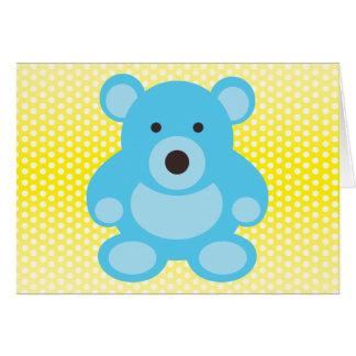 Light Blue Teddy Bear Greeting Card
