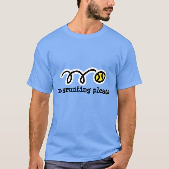 Light blue tennis t shirt | No grunting