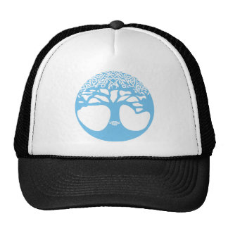 Light Blue Tree of Life with Celtic Knots Cap