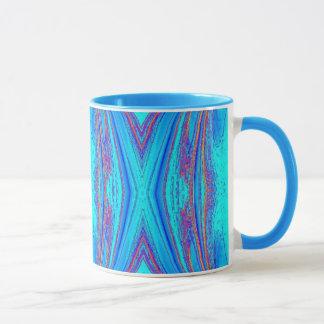 Light Blue Turquoise Abstract Art Mug