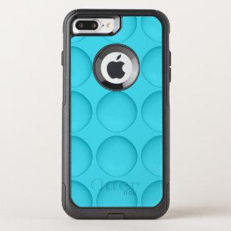 Light Blue Turquoise Pattern OtterBox Commuter iPhone 8 Plus/7 Plus Case
