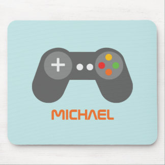Light Blue Video Gamer Mouse Pad