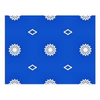 Light Blue Vinatge Floral Wall Postcard