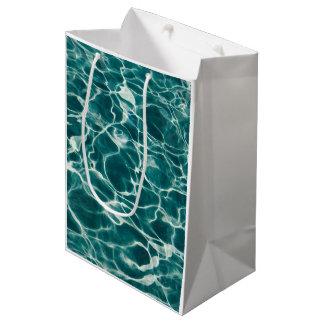 Light Blue Wavy Rippling Fire Water Medium Gift Bag