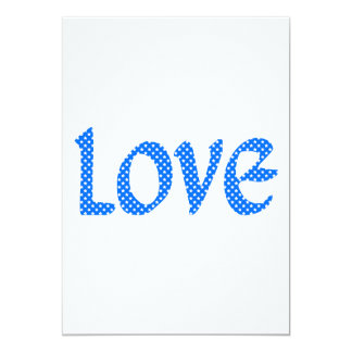 Light Blue & White Stars Love 13 Cm X 18 Cm Invitation Card