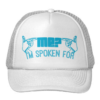 light blue - who ME? I'M SPOKEN FOR. Mesh Hat