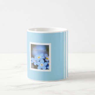 Light Blue with Forget Me Nots Mugs