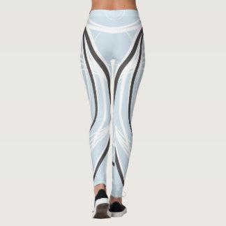 Light blue with white strips leggings