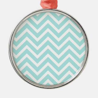 Light blue Zigzag pattern Christmas Ornament
