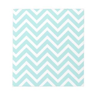 Light blue Zigzag pattern Notepad