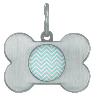 Light blue Zigzag pattern Pet Tag