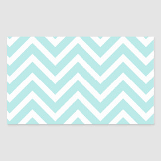Light blue Zigzag pattern Rectangular Sticker