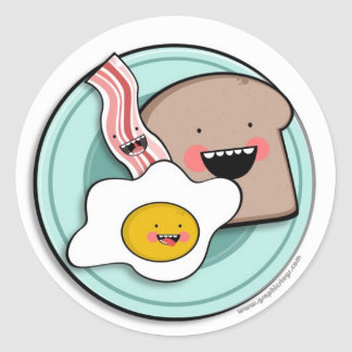 light breakfast stickers