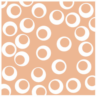 Light Brown and White Circles Pattern. Cut Out