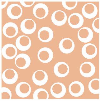 Light Brown and White Circles Pattern. Photo Cutouts