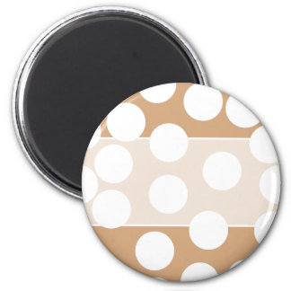 Light Brown and White Spot Pattern. Refrigerator Magnets