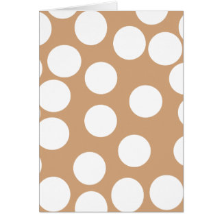 Light Brown and White Spot Pattern. Note Card