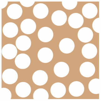 Light Brown and White Spot Pattern. Photo Sculpture Badge