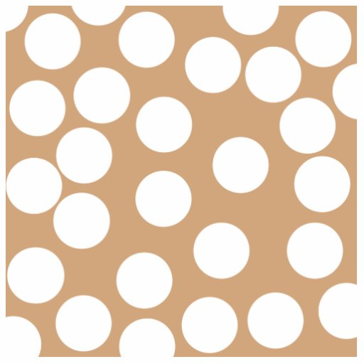 Light Brown and White Spot Pattern. Acrylic Cut Out