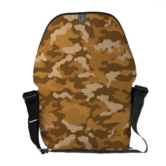 Light Brown Army Military Camo Camouflage Pattern Courier Bags