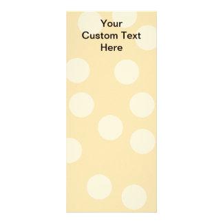 Light Brown, Beige Spot Pattern and Custom Text. Customized Rack Card