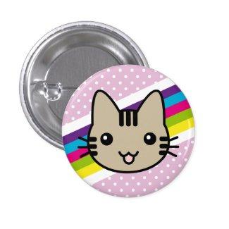 Brown Cat Badge