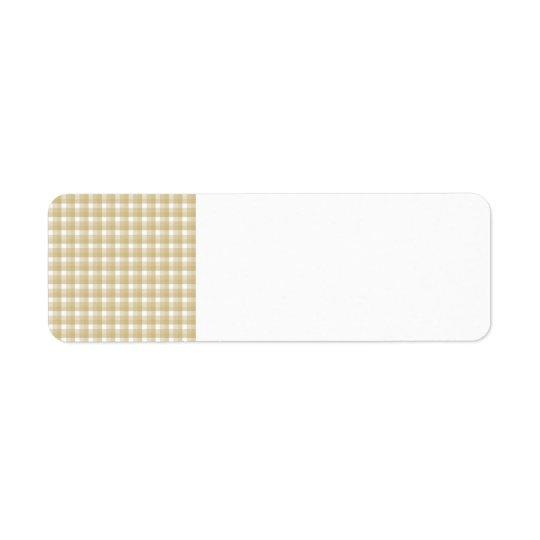 Light brown check pattern. Beige gingham.