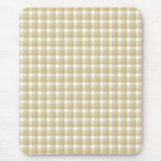 Light brown check pattern. Beige gingham. Mouse Mat