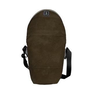 Light Brown Damaged Wood Messenger Bag