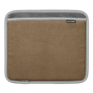 Light brown leather texture iPad sleeves