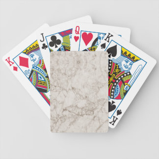 Light Brown Marble Look Bicycle Playing Cards