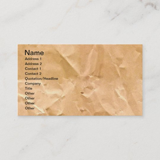 LIGHT BROWN PAPER BAG TEXTURE BACKGROUND WALLPAPER BUSINESS CARD