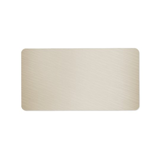Light brown texture address label