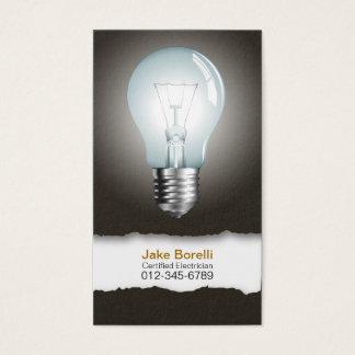 Light Bulb Black Business Card