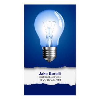 Light Bulb Blue Business Card