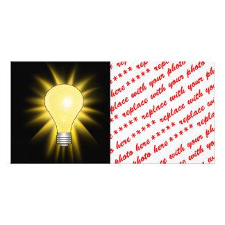 Light Bulb - Bright Idea Personalized Photo Card