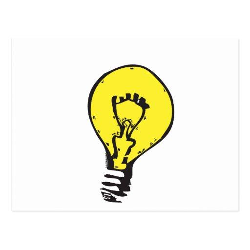 LIGHT BULB BRIGHT IDEA!! POSTCARDS