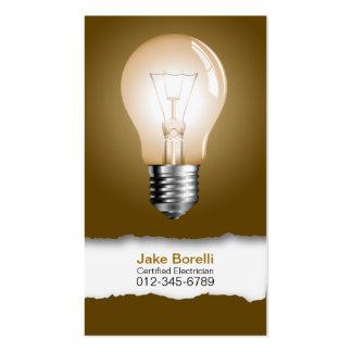Light Bulb Brown Business Card
