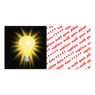 Light Bulb - Dim The Lights Personalized Photo Card