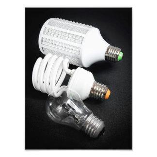 Light bulb generations photographic print