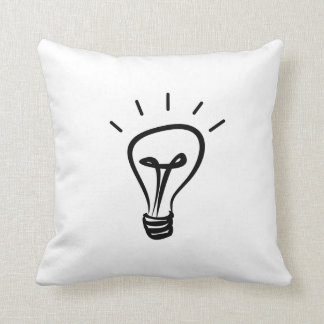 Light Bulb Idea Throw Pillow