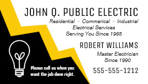 Electrician Business Cards Zazzle Uk