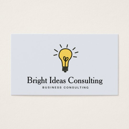 Light Bulb Logo Business Marketing Consulting Business Card