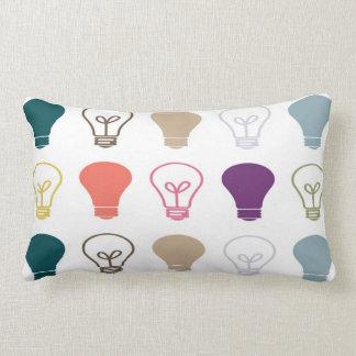 Light bulb moments throw cushions